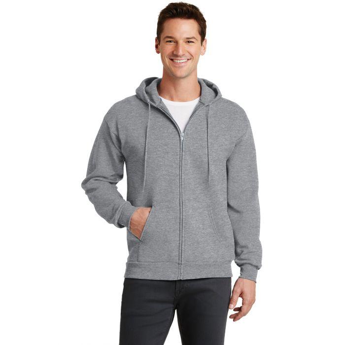PC78ZH Red Port /& Company-Core Fleece Full-Zip Hooded Sweatshirt