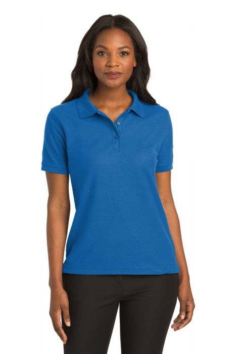 M Kelly Green Port Authority Youth Silk Touch Polo Shirt