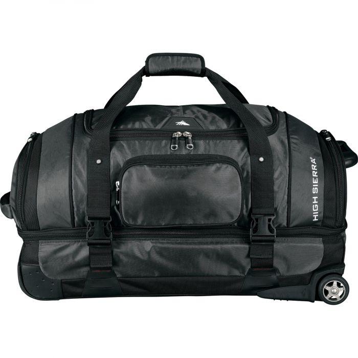 High Sierra 30 Drop Bottom Wheeled Duffel Bag Blue Soda Promo