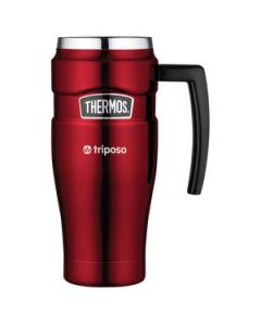 Thermos Stainless King Travel Mug - 16 Oz. Red