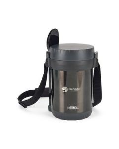 Thermos AllIn1 Vacuum Insulated Meal Carrier with Spoon  61 Oz Silver