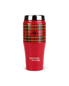 Thermos Heritage Plaid Travel Tumbler 16 Oz Red