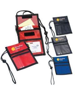 Neck Wallet w Adjustable Neck Cord