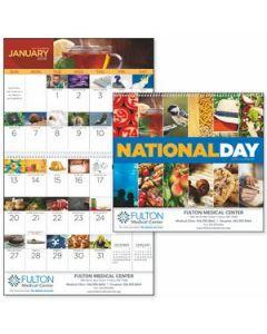 Good Value National Day Calendar Spiral