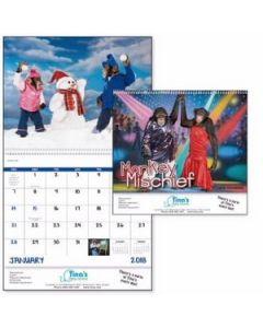 Good Value Monkey Mischief Calendar Spiral