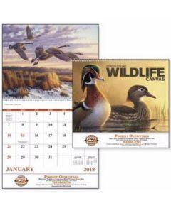 Good Value Wildlife Canvas Calendar Spiral