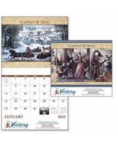 Good Value Currier  Ives Calendar Spiral