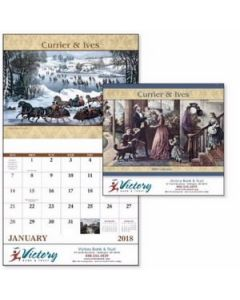 Good Value Currier  Ives Calendar Stapled
