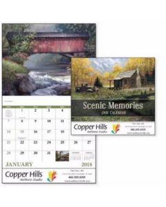 Good Value Scenic Memories Calendar Stapled