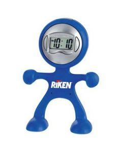 Flex Man Digital Clock