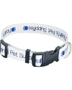 "Full Color 1"" Wide Adjustable Pet Collar"