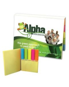SimpliColor VersaPak  2 Sticky Note Pads and 5 Flag Colors Digital Full Color Cover