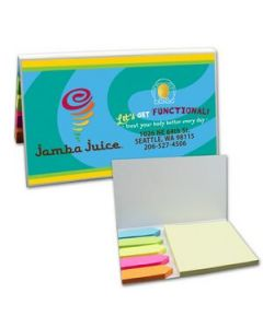 SimpliColor Sticky Notes w Flags  Sticky Note Pad and 5 Flag Colors Digital Full Color