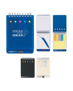 Spiral Jotter With Sticky Notes Flags  Pen
