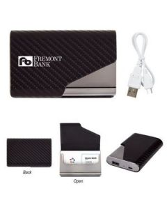 UL Listed 2 in 1 Zeus Power Bank with Card Holder