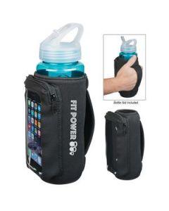 Neoprene Bottle Cooler With Phone Holder