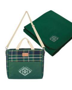 Tartan Cooler Bag With Fleece Blanket