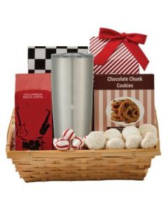 Coffee  Cookie Basket with 20 Oz Himalayan Tumbler
