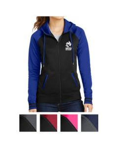 SportTek Ladies SportWick Varsity Fleece FullZip Hooded Jacket