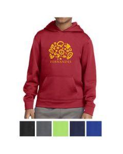 SportTek Youth SportWick Fleece Hooded Pullover