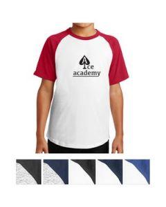SportTek Youth Short Sleeve Colorblock Raglan Jersey