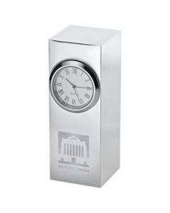 Radiance Silver Plated Column Clock