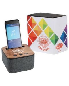 Shae Fabric Bluetooth Speaker with Full Color Wrap