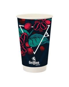 Prka 16oz Double Wall Paper Coffee Cup