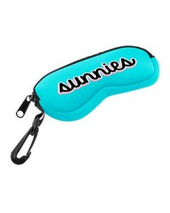 Neoprene Eyeglass Case w Zipper  Clip 1 Color