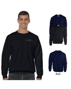 Adult 8 Oz Gildan Heavy Blend Classic Fit Crewneck Sweatshirt