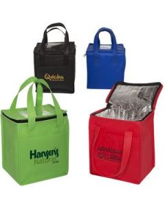 NonWoven Cubic Lunch Bag wID Slot