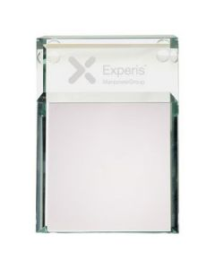 Atrium Glass Message Pad Holder
