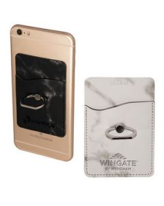 Tuscany Marble Card Holder wMetal Ring Phone Stand