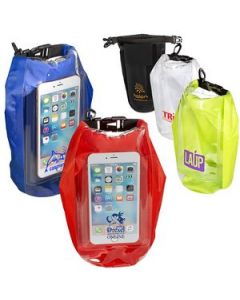 2L Water Resistant Dry Bag w Mobile Pocket