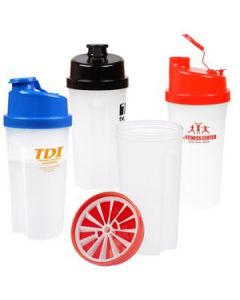20 Oz Plastic Fitness Shaker wMeasurement