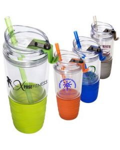 Quench Acrylic 22 Oz Tumbler with Straw