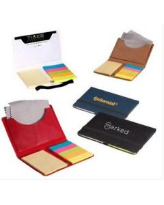 Business Card Sticky Pack w Microfiber Cleaning Cloth