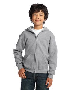 Gildan Youth Heavy Blend Full Zip Hooded Sweatshirt