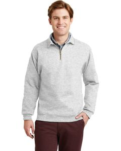 Jerzees Super Sweats NuBlend 14 Zip Sweatshirt w Cadet Collar