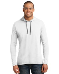 Anvil 100 Ring Spun Cotton Long Sleeve Hooded TShirt