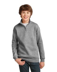 Jerzees 14Zip Cadet Collar Youth Sweatshirt