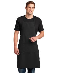Port Authority Easy Care Extra Long Bib Apron w Stain Release
