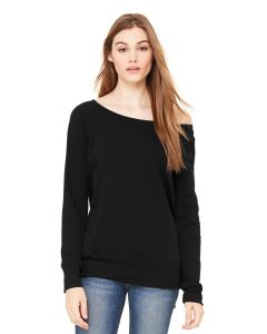 BellaCanvas Womenaposs Sponge Fleece Wide Neck Sweatshirt