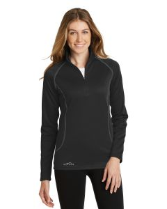 Eddie Bauer Ladies 12 Zip Base Layer Fleece Shirt