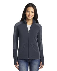 Port Authority Ladiesapos Colorblock Microfleece Jacket