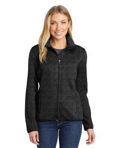 Ladiesapos Port Authority Sweater Fleece Jacket