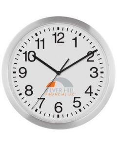 """12"""" Slim Metal Wall Clock"""
