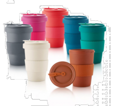16 oz Bamboo Fiber Travel Mug