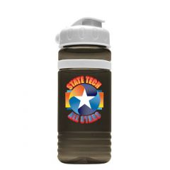 20oz Tritan Stripe Flip Lid Sports Bottle