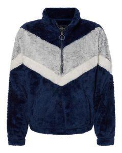 Women's Chevron Fuzzy Fleece Pullover
